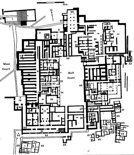 схема дворца миноса